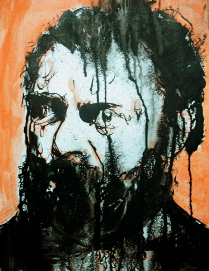 Dvorak. Ink and acrylic on paper. August 2011