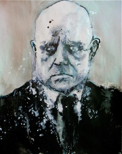 Sibelius. Ink and acrylic on paper. August 2011