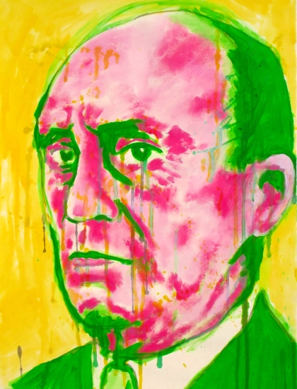 ZAZZLE - 2012 - Schoenberg, 24x18 inches, acrylic on paper