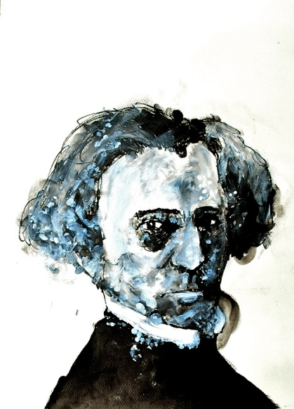 Berlioz. Ink + acrylic on paper. 2011