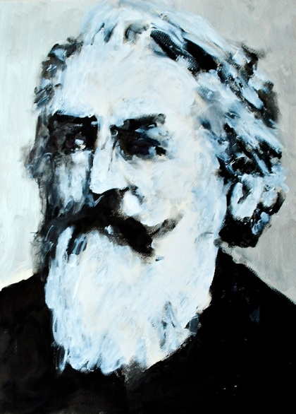 Brahms. Ink and acryllic on paper. 2011