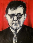 Shostakovich. Ink + acrylic on paper. 2011