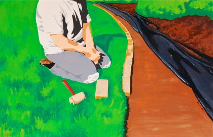 New Landscape Paintings - Mowing Edge