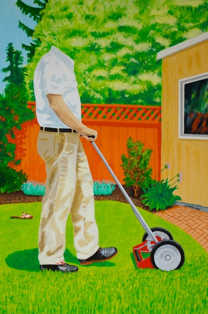 New Landscape Paintings - Push Mower 2012