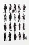 20 Pedestrians (and Baby)9x6 inchesInk on paper
