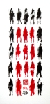 27 Pedestrians (with Child)12x6 inchesInk on paper