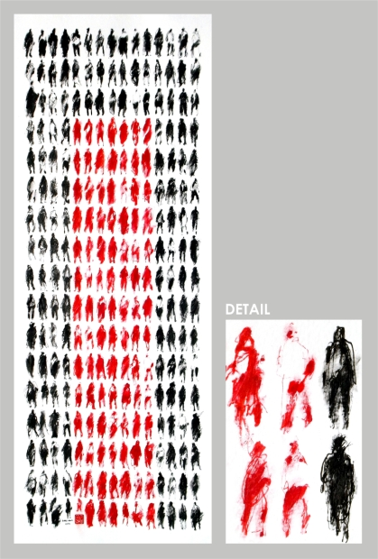 2012 - 255 Pedestrians (Red Stripe) - WITH DETAIL FOR WEB